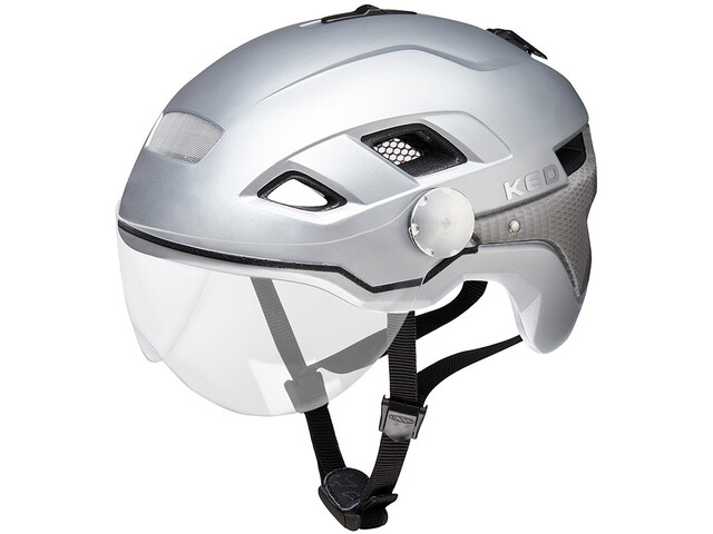 KED B-Vis X-Lite Kask rowerowy, silver matt